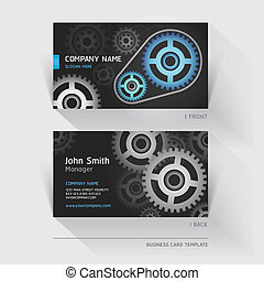 Business card abstract gear.
