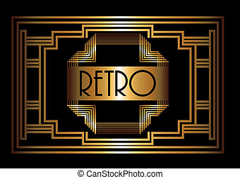 Gatsby design over black background, vector illustration