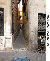 venice italy famous narrow streets