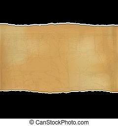 Black Fragmentary Paper - Fragmentary Paper, Vector...