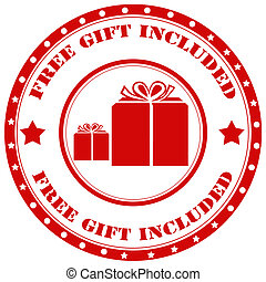 Free Gift Included-stamp