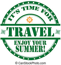 It's Time For Travel-label - Label with text It's Time For...