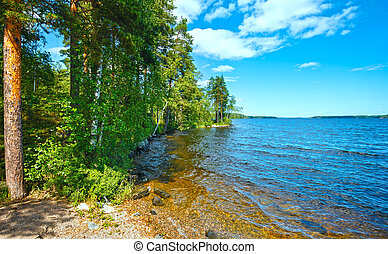 Lake Ruotsalainen summer view Finland - Lake Ruotsalainen...