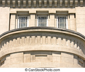 Stone Balcony - Detail of large stone balcony on heritage...