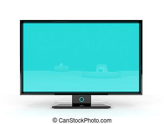 plano, Lcd, televisión
