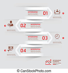 Modern business infographic paper. - Modern business...
