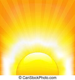 Shining Sun, Vector Illustration