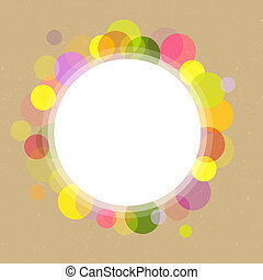 Paper With Speech Babble - Abstract Retro Circles On...