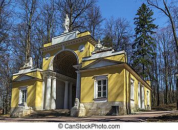 Tsaritsyno Park, Moscow - Pavilion Milavida in Tsaritsyno...