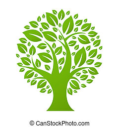 Eco Tree, Isolated On White Background
