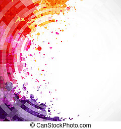 Dinamic Watercolor Blot Background With Gradient Mesh,...