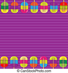 Colorful Candy Background With Gradient Mesh, Vector...