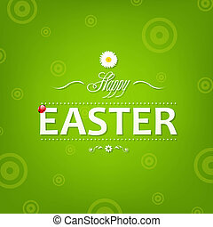 Easter Banner, With Gradient Mesh, Vector Illustration