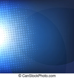 Dark Blue Background With Blur, Vector Illustration