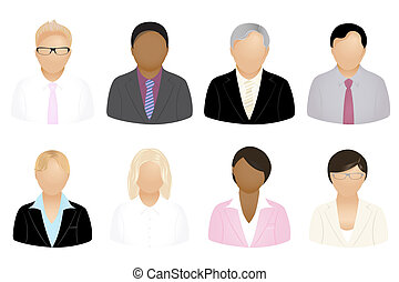 Business People Icons - Set Of Business People Icons,...