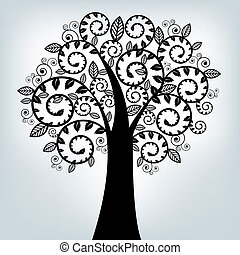 Black Stylized Tree