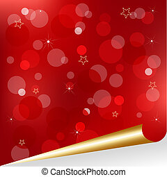 Christmas Design - Christmas Red Background With Gold Scroll