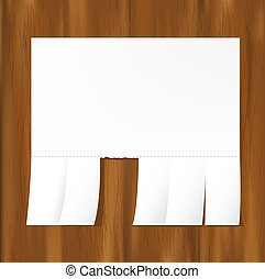 Blank Advertisement On Wooden Wall,