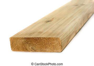 Wood lumber board isolated