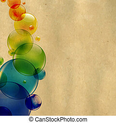 Cardboard Structure Background With Colorful Balls