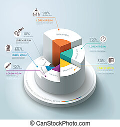 Business Infographics circle graph Vector illustration. can...