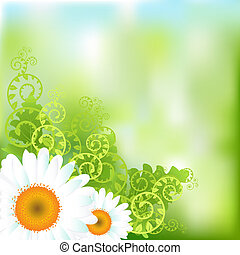 Floral Vector Background - Abstract Floral Vector Background...