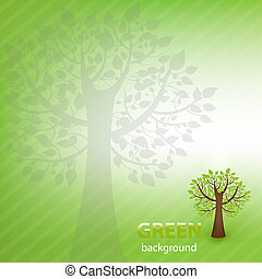 Green Background With Tree