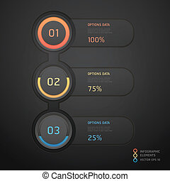 Modern black infographics banner Vector illustration can be...