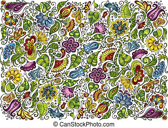 vector colorful fantasy floral background