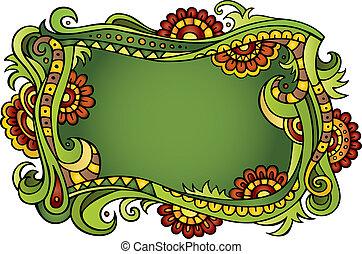 Fantasy vector fairy-tale floral frame - Fantasy vector...