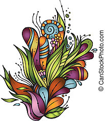 Abstract vector decorative nature ornament