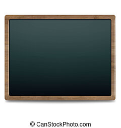 Black Chalk Board, Isolated On White Background