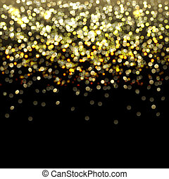 Defocused Gold Abstract Background With Bokeh