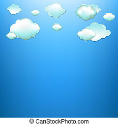 Clouds With Blue Background