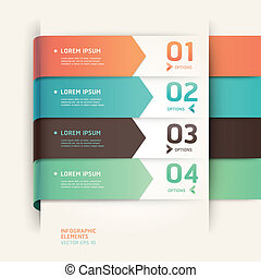 Modern arrow origami style step up options banner. Vector...