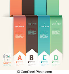 Modern arrow origami style step up options banner template....