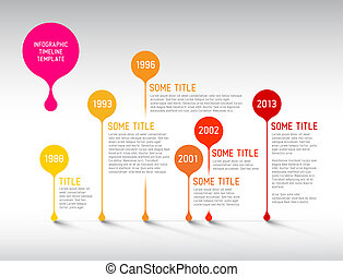 Infographic timeline report template with bubbles - Vector...