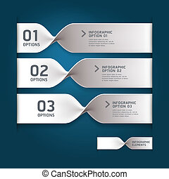 Modern spiral infographics options banner. Vector...