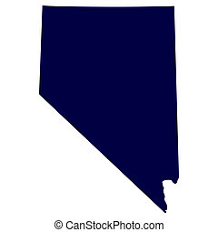 map of the US state of Nevada