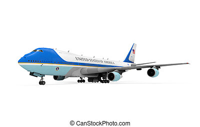 Air Force One Isolated - Air Force One isolated on white...