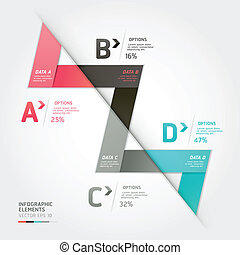 Modern arrow origami style options banner. Vector...