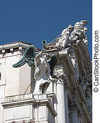 venice italy famous historic statue