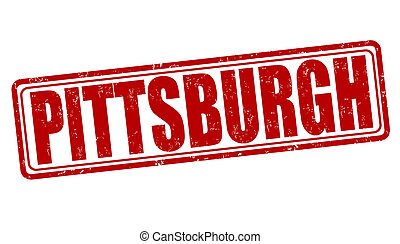 Pittsburgh stamp - Pittsburgh grunge rubber stamp on white,...