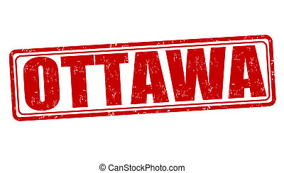Ottawa stamp - Ottawa grunge rubber stamp on white, vector...