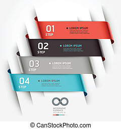 Abstract infographics ribbon style. - Abstract infographics...