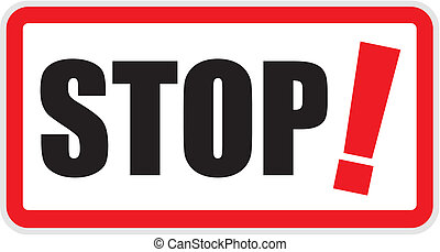 Stop Sign - Vector stop sign illustration