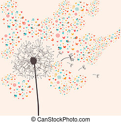 Spring dandelion illustration