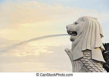 Merlion - The famous merlion in Singapore