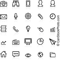 Business outline icons set 1. Vector illustration.