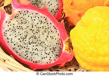 Pitahaya or dragon fruit - Hylocereus undatus